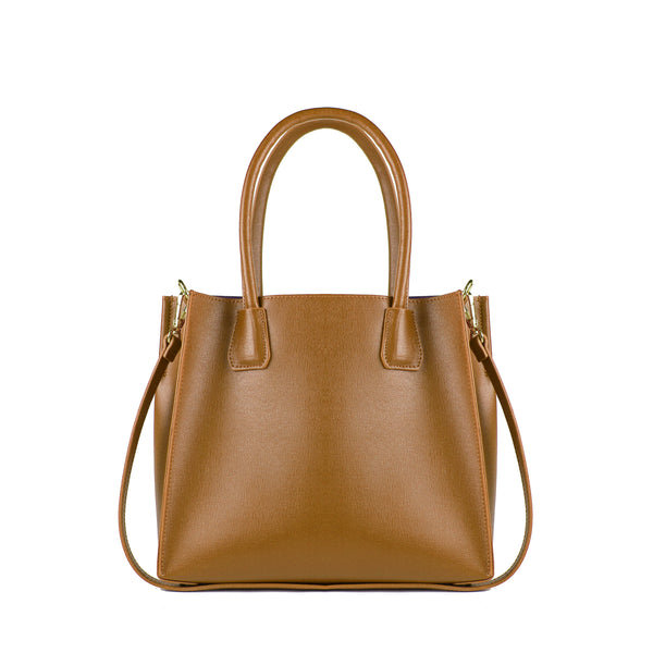 ELISENDRA Agata Brown Shoulder Bag EL9101DW