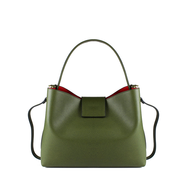 ELISENDRA Cindy Green Shoulder Bag EL9103AW