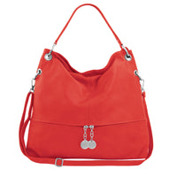 ELISENDRA Evelyne Red Shoulder Bag EL9106AW