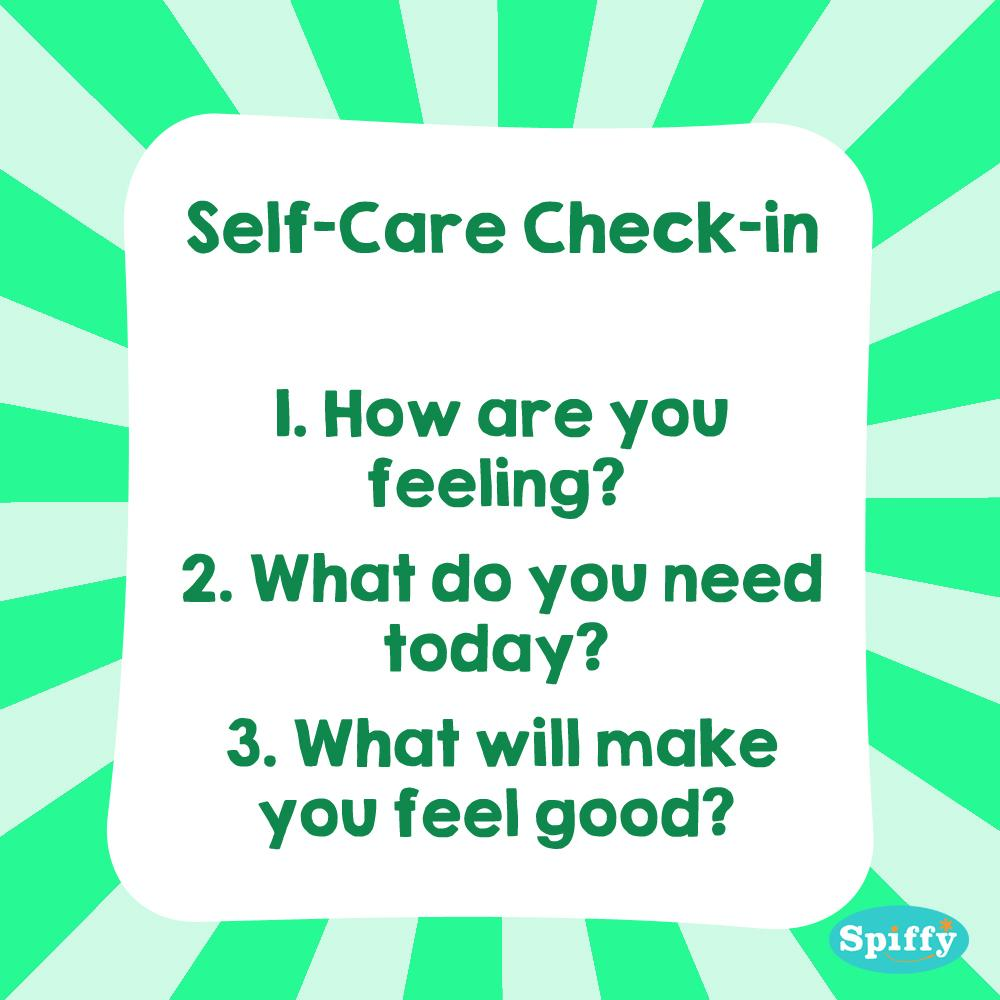 The importance of a Self-Care check in