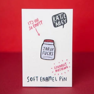 Jar of F*cks Soft Enamel Pin by Katie Abey - Enamel Pins - Spiffy