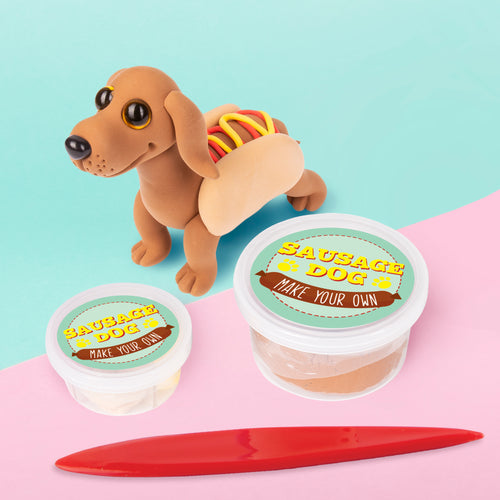 Make Your Own Sausage Dog - Dough Modelling Kit - Craft Kits - Spiffy