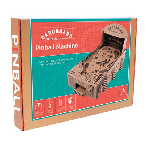 Build Your Own Pinball Machine - Cardboard Construction Kit - Craft Kits - Spiffy