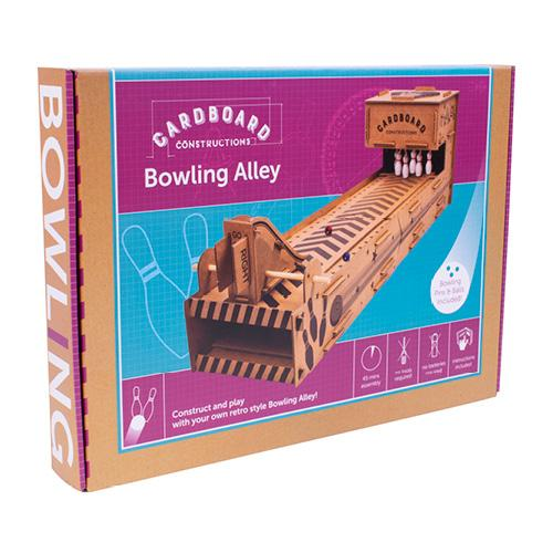 Build Your Own Bowling Alley - Cardboard Construction Kit - Craft Kits - Spiffy