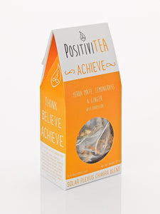 Positivitea Achieve Tea Bags - Yerba Mate, Lemongrass & Ginger With Dandelion - Tea Bags - Spiffy