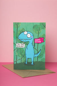 You're Prehistoric - Dinosaur Birthday Card by Katie Abey - Cards - Happy Birthday - Spiffy