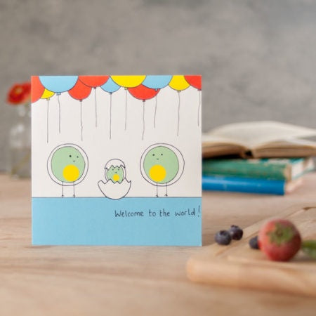 Welcome to the World New Baby Greeting Card by Helen Russell