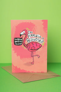 Flamingo of Friendship - Greeting Card by Katie Abey - Cards - Friendship - Spiffy
