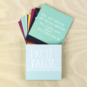 Press Pause Reminder Cards - Inspirational Message Sets - Spiffy