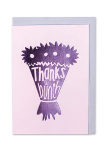 """Thanks A Bunch"" Foil Finish Thank You Card - Cards - Thank You - Spiffy"