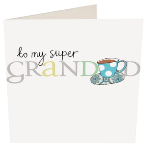 """To my Super Grandad"" Birthday Card by Caroline Gardner - Cards - Happy Birthday - Spiffy"