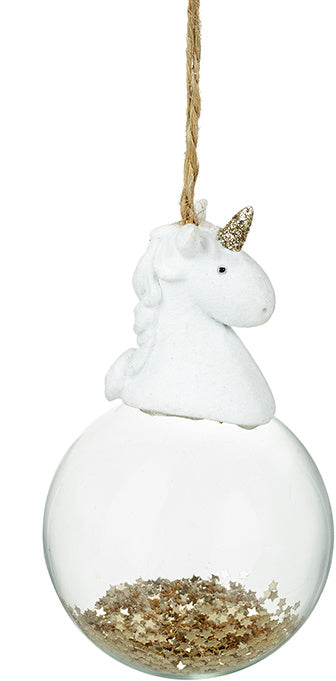 Hanging Unicorn Bauble