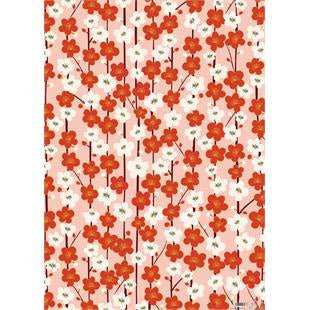 Red and White Flowers Sheet Wrap Wrapping Paper by Caroline Gardner - Cards & Gift Wrap - Spiffy