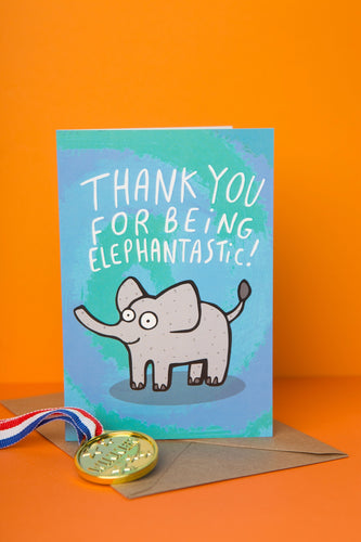 Elephantastic - Thank You Card by Katie Abey - Spiffy