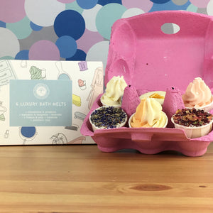 Luxury Bath Melts Gift Box by Wild Olive - Favourites Collection