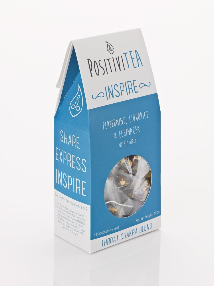 Positivitea Inspire Tea Bags - Peppermint, Liquorice & Echinacea With Ajwain - Snacks & Drinks - Spiffy