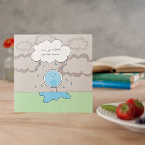 Under the Weather Greeting Card by Helen Russell - Cards - Get Well - Spiffy