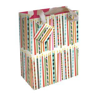 Candles Large Gift Bag by Caroline Gardner - Gift Bags - Spiffy