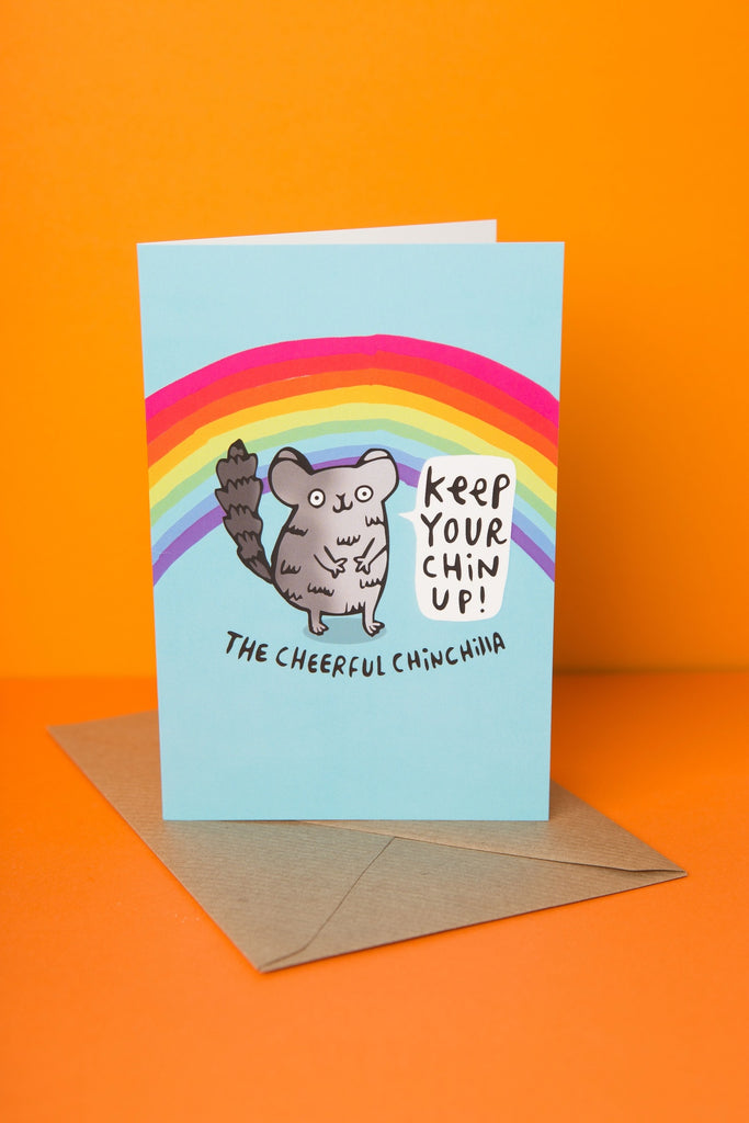 Cheerful Chinchilla - Greeting Card by Katie Abey - Spiffy