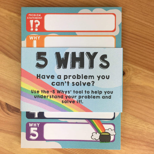 5 Whys Problem Solver A6 Notepad - Notepads - Spiffy