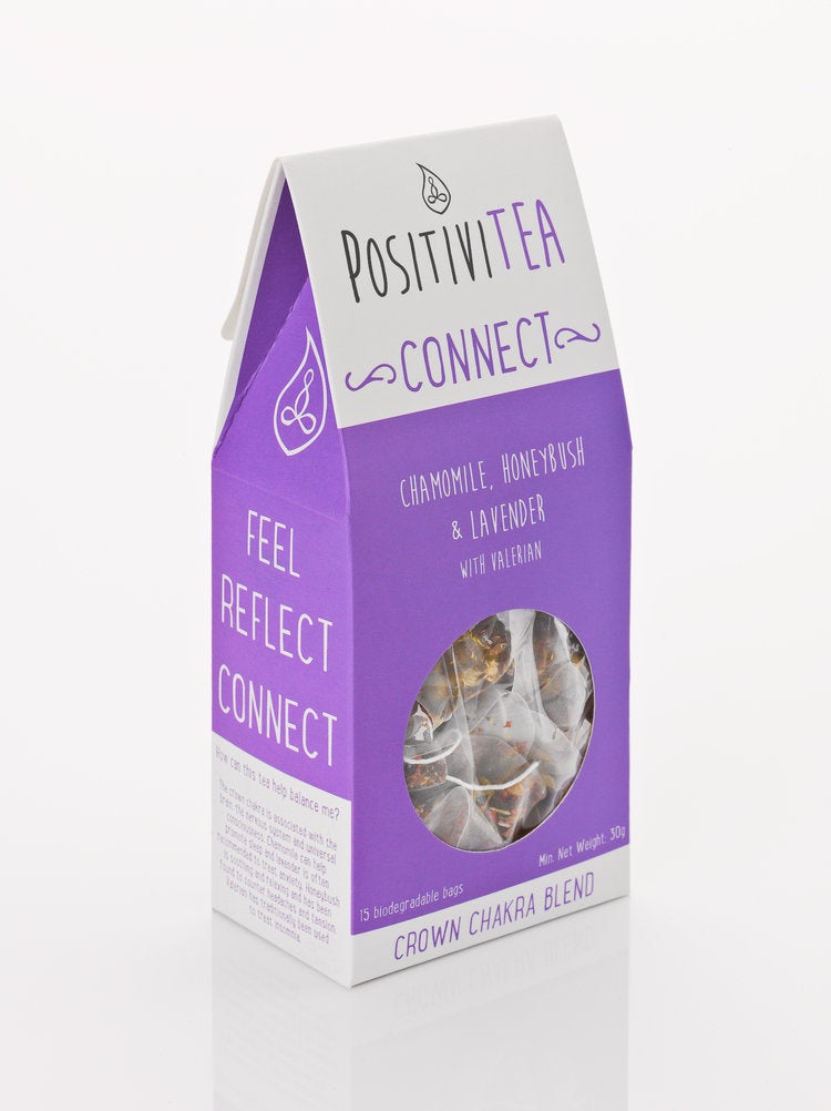 Positivitea Connect Tea Bags - Chamomile, Honeybush & Lavender With Valerian