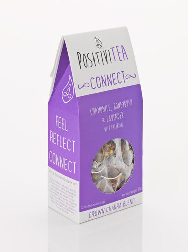 Positivitea Connect Tea Bags - Chamomile, Honeybush & Lavender With Valerian - Snacks & Drinks - Spiffy
