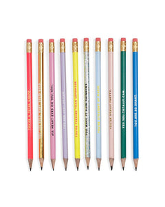 Compliment Pencil Set - Affirmation Pencils - Spiffy