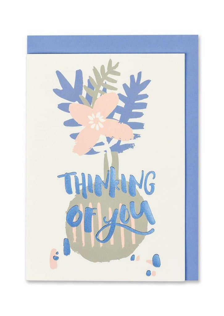 """Thinking of You"" Foil Finish Card - Spiffy"