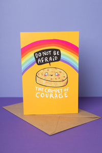 The Crumpet of Courage - Greeting Card by Katie Abey - Cards - Encouragement - Spiffy