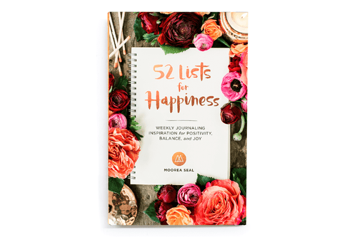 52 Lists for Happiness: Weekly Journaling Inspiration (Book by Moorea Seal) - Journals - Spiffy