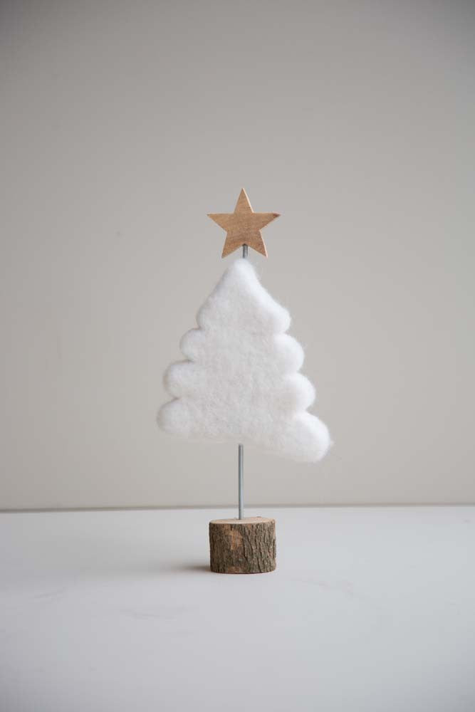 Felt Christmas Tree Wood Base - Christmas - Spiffy