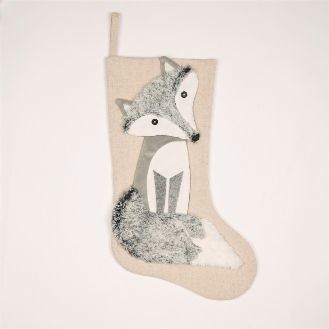 Winter Fox Stocking - Christmas - Spiffy