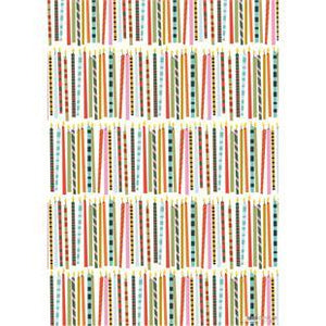 Birthday Candles Sheet Wrap Wrapping Paper by Caroline Gardner - Wrapping Paper - Spiffy