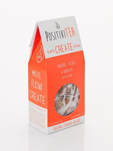Positivitea Create Tea Bags - Rooibos, Cocoa & Vanilla With Ginseng - Tea Bags - Spiffy