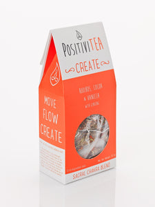 Positivitea Create Tea Bags - Rooibos, Cocoa & Vanilla With Ginseng - Snacks & Drinks - Spiffy