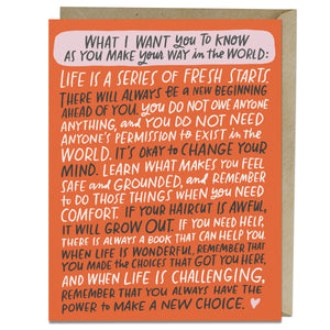 Make Your Way in the World - Encouragement Card - Spiffy