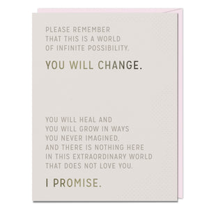 You Will Change - Encouragement Card - Spiffy