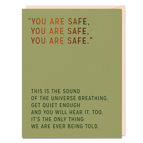 You Are Safe - Empathy Card - Spiffy