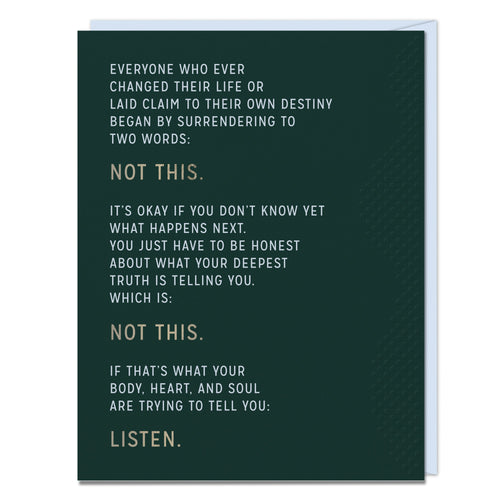 Not This - Encouragement Card - Spiffy