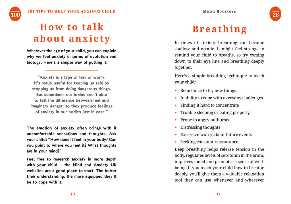 101 Tips To Help Your Anxious Child (Book by Poppy O'Neill) - Spiffy