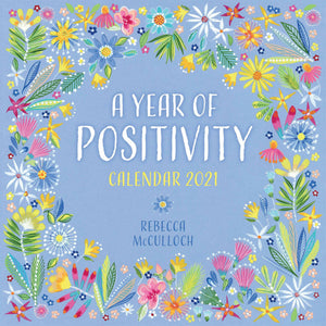 A Year of Positivity Wall Calendar 2021 by Rebecca McCulloch