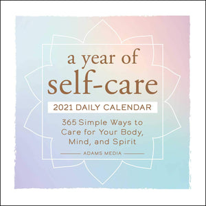 A Year of Self-Care 2021 Daily Desktop Calendar