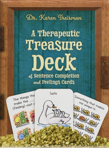A Therapeutic Treasure Deck of Sentence Completion and Feelings Cards by Dr. Karen Treisman - Activity Cards - Spiffy