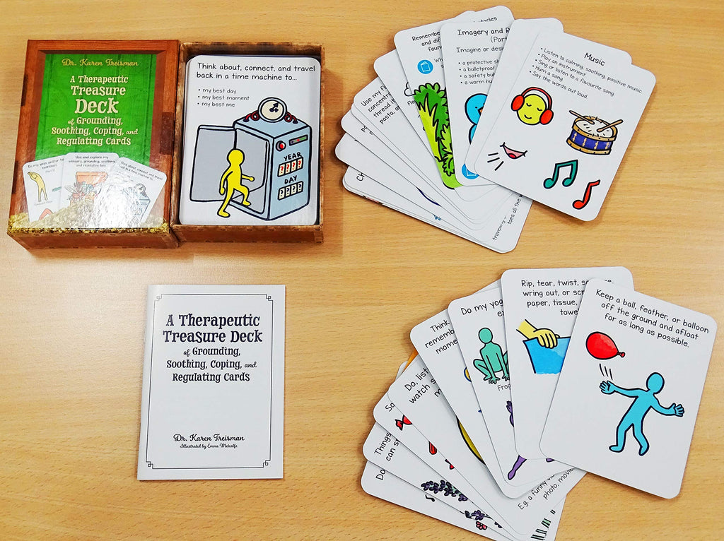 A Therapeutic Treasure Deck of Grounding, Soothing, Coping and Regulating Cards by Dr. Karen Treisman - Spiffy