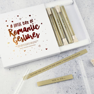 A Little Box of Romantic Gestures - Inspirational Message Sets - Spiffy