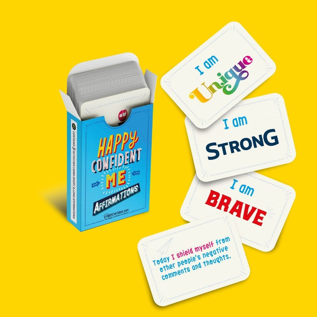 Happy Confident Me Affirmations - Family Affirmation Cards - Spiffy