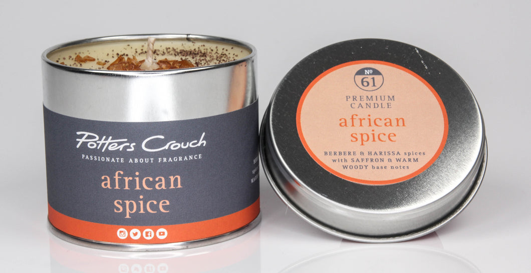 Potters Crouch African Spice Luxury Fragranced Candle Tin