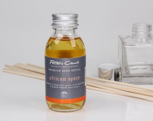 Potters Crouch African Spice Luxury Reed Diffuser Refill (100ml) - Spiffy