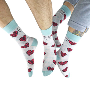 Diamond Heart Socks by Angela Chick - Socks - Spiffy