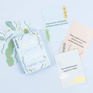 54 Ways To Ease The Anxious Mind Card Pack - Inspirational Message Sets - Spiffy